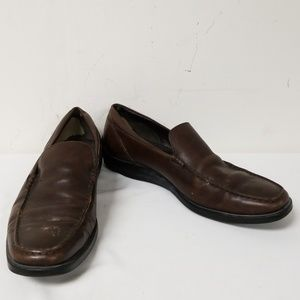 Tod's Dark Brown Leather Slip On Loafers Size 8.5